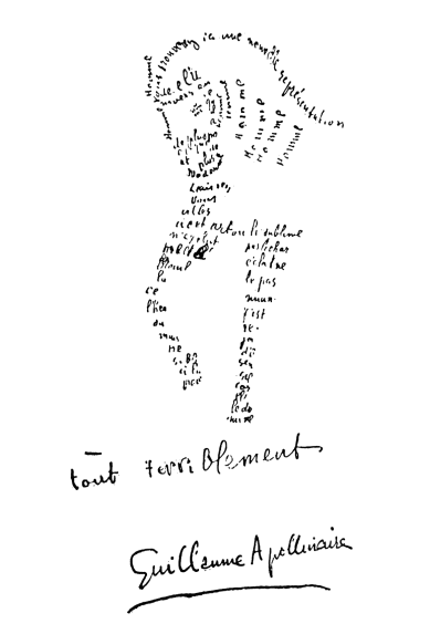 Guillaume_Apollinaire_-_Calligramme_-_Cheval